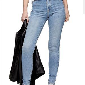 Topshop Jamie Skinny jeans, light wash v stretchy